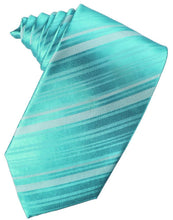 Load image into Gallery viewer, Pool Striped Satin Necktie