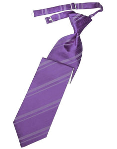 Wisteria Striped Satin Necktie