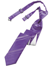 Load image into Gallery viewer, Wisteria Striped Satin Skinny Necktie