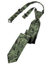 Load image into Gallery viewer, Fern Tapestry Skinny Necktie