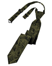 Load image into Gallery viewer, Moss Tapestry Skinny Necktie