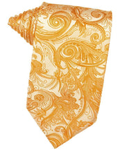 Load image into Gallery viewer, Tangerine Tapestry Necktie