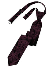 Load image into Gallery viewer, Wine Tapestry Skinny Necktie