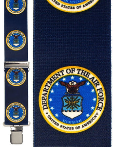 """Air Force Armed Forces Blue"" Suspenders"