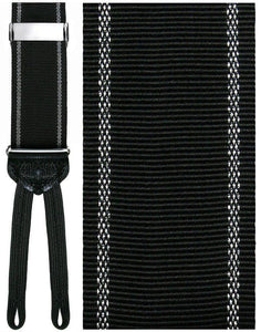 """Basilicata"" Black Checkered Suspenders"