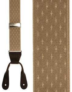 """Beige Petite Diamonds"" Suspenders"