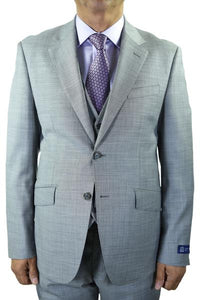 "Berragamo ""Reda"" Grey Sharkskin Suit"