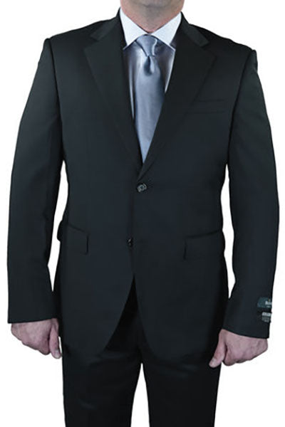 Berragamo Solid Charcoal 2-Button Notch Slim Fit Suit