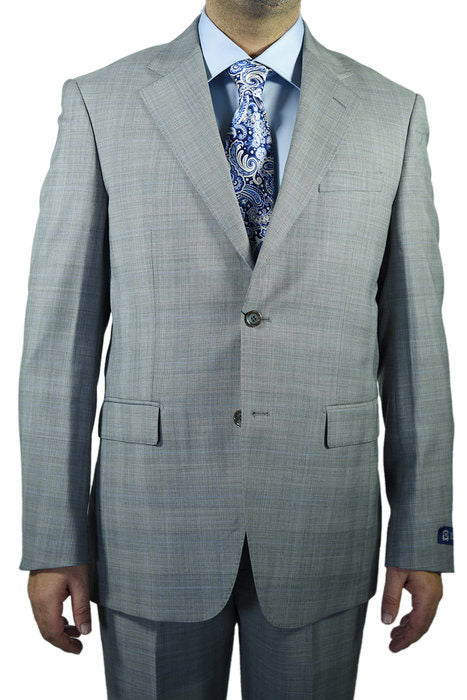 Berragamo Plaid Light Grey Suit