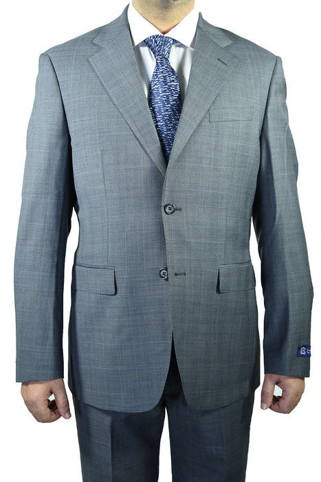 Berragamo Plaid Grey Suit
