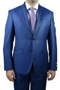 "Berragamo ""Reda"" New Blue Sharkskin Slim Fit Suit"