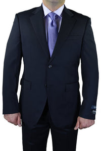 Berragamo Solid Navy 2-Button Notch Suit