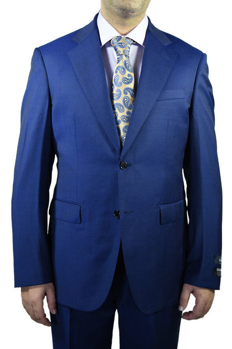 Berragamo Solid New Blue 2-Button Notch Suit