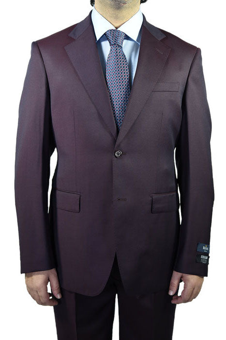 Berragamo Solid Plum 2-Button Notch Suit