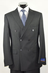"Berragamo ""Napoli"" Charcoal Double-Breasted Suit"