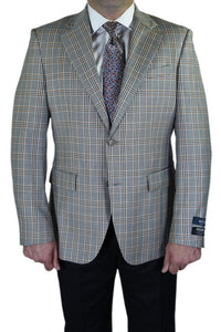 "Berragamo ""Fancy"" Grey Windowpane Blazer"