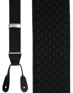 """Black Checkers"" Suspenders"