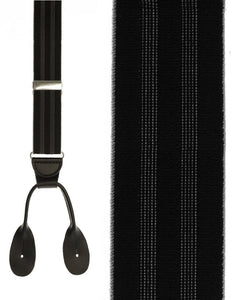 """Black Shadow Stripe"" Suspenders"