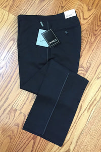 Black Luxury Wool Blend Tuxedo Pants