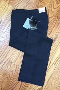 """Bradley"" Midnight Navy Luxury Wool Blend Suit Pants - Unhemmed"