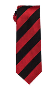 Aztec Black & Red Stripe Tie