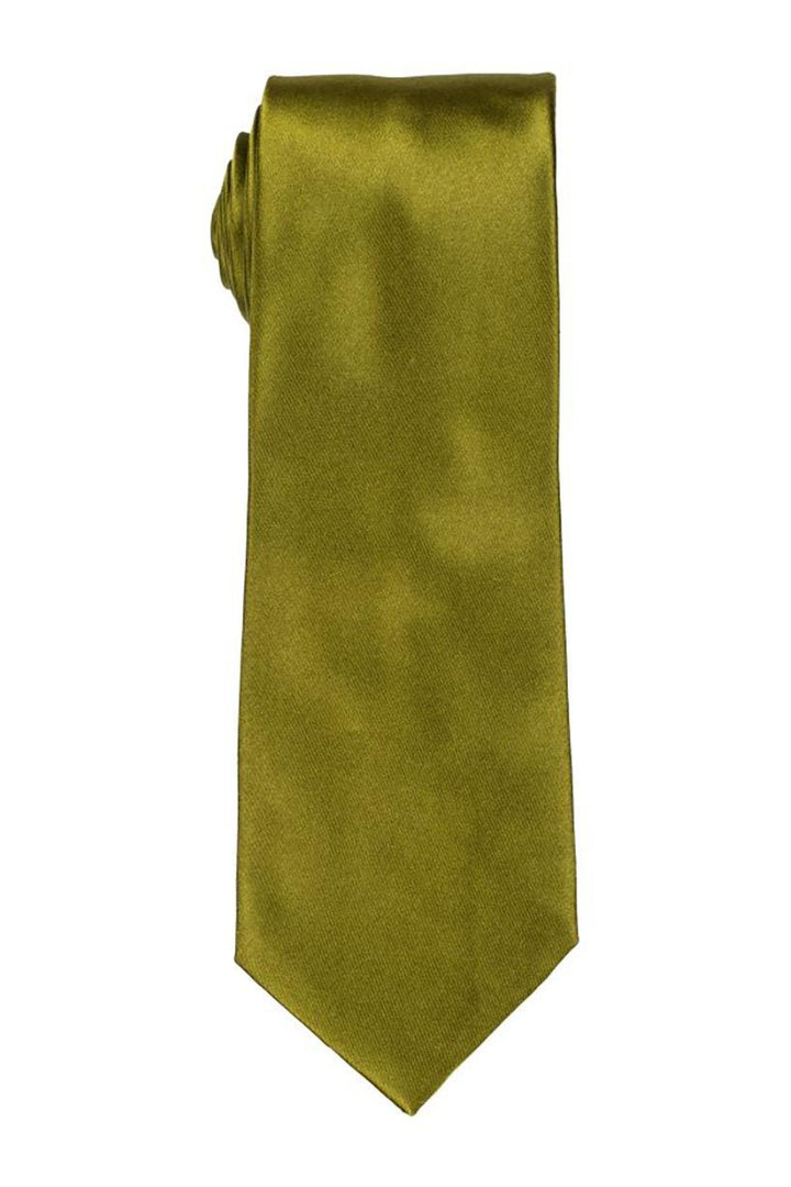 Solid Green Satin Tie