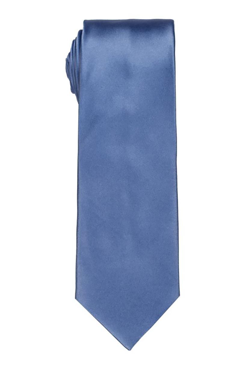 Solid Light Blue Satin Tie
