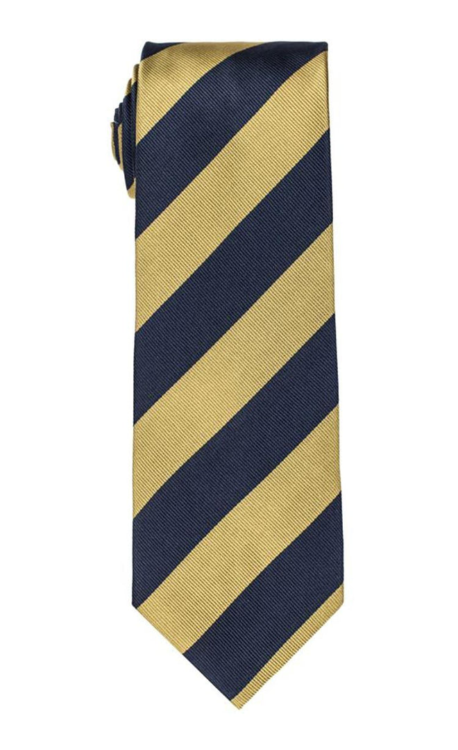 Wolverine Navy & Gold Stripe Tie