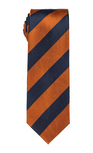 Tiger Navy & Orange Stripe Tie