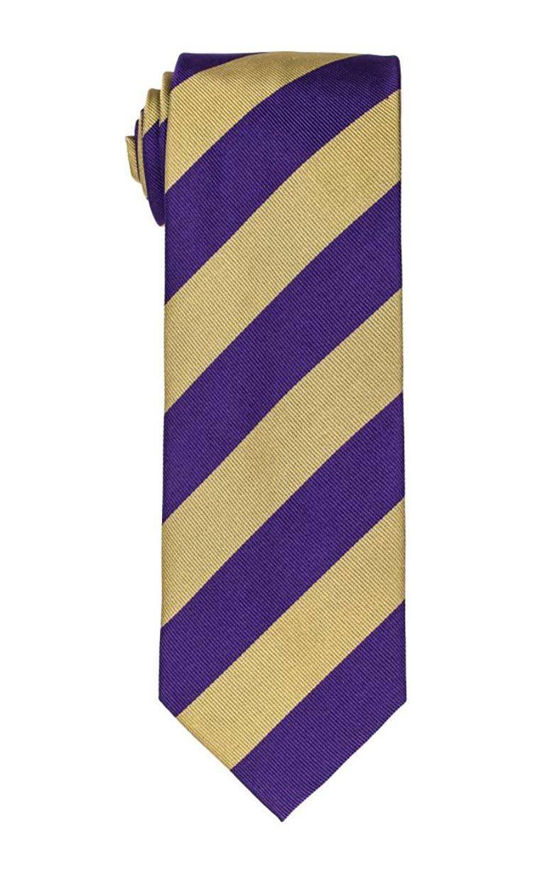 Tiger Purple & Gold Stripe Tie