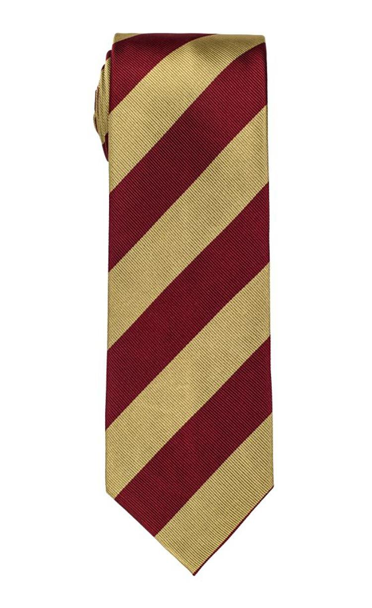 Trojan Red & Gold Stripe Tie