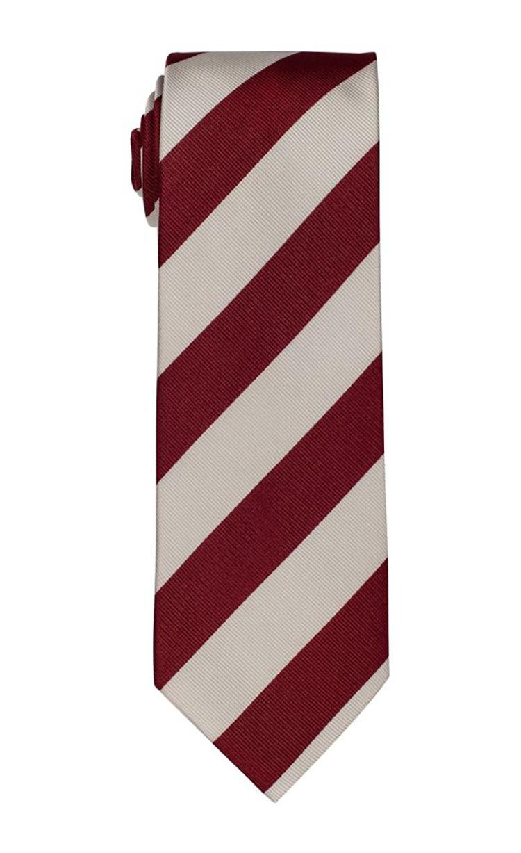 Roll Tide Red & White Stripe Tie