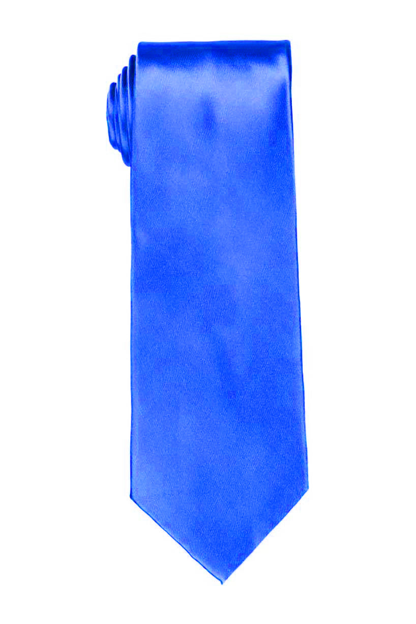 Solid Royal Blue Satin Tie