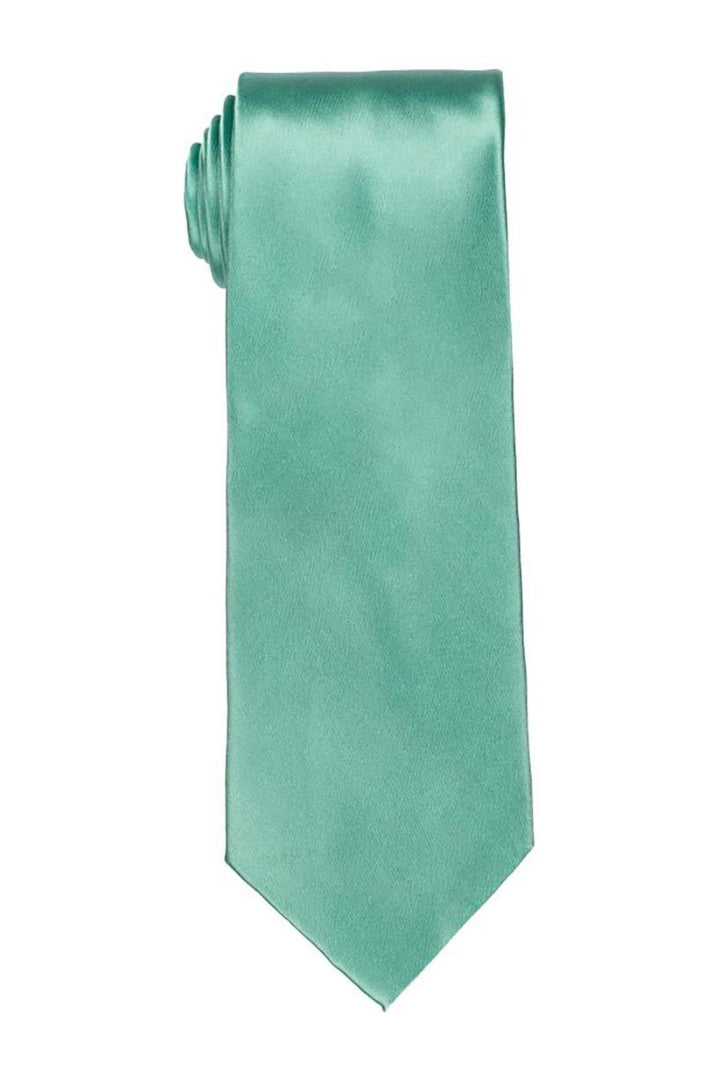 Solid Turquoise Satin Tie