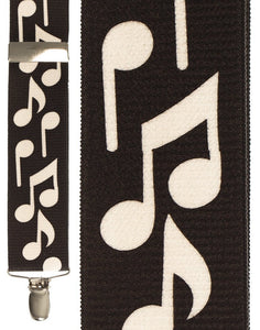 """Bold Notes Black"" Suspenders"