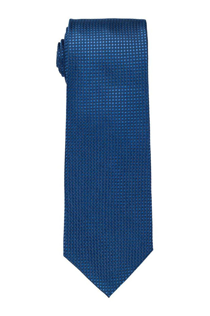 Medium Blue Grid Tie