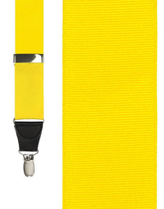 """Bright Yellow Grosgraine Ribbon"" Suspenders"