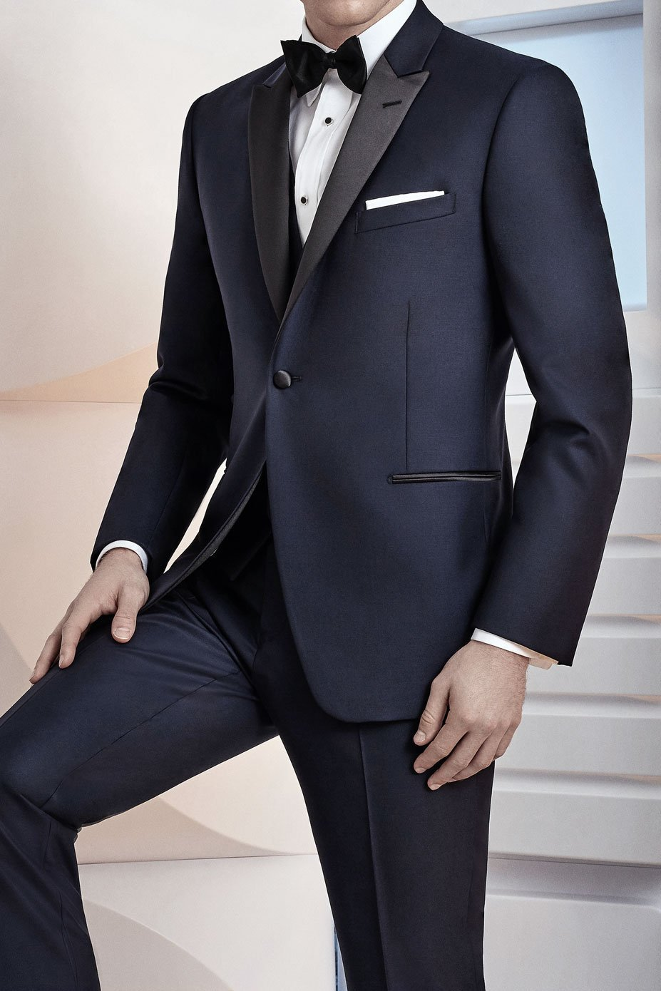 Midnight Navy Tuxedo Jacket (Separates)
