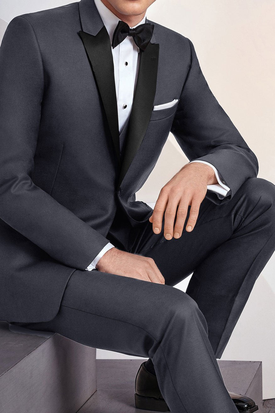 Steel Grey Tuxedo Jacket (Separates)