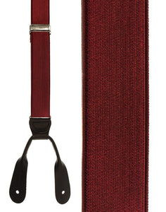 """French Satin"" Burgundy Suspenders"