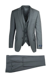 "Canaletto ""Como"" Ermenegildo Zegna Cloth Light Grey 3-Piece Suit"