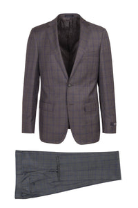 "Canaletto ""Dolcetto"" REDA Wool Lavender Windowpane Suit"