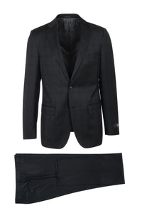 "Canaletto ""Dolcetto"" REDA Wool Black Windowpane Suit"