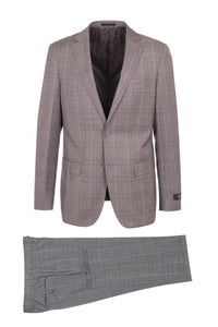 "Canaletto ""Dolcetto"" REDA Wool Lilac Windowpane Suit"