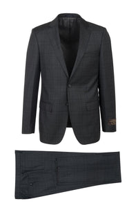 "Canaletto ""Dolcetto"" Vitale Barberis Charcoal Windowpane Suit"