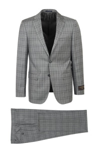 "Canalettto ""Dolcetto"" Vitale Barberis Light Grey Winowpane Suit"
