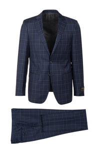 "Canaletto ""Dolcetto"" Vitale Barberis Navy Windowpane Suit"