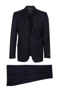 "Canaletto ""Porto"" Ermenegildo Zegna Navy Blue Solid Slim Fit Suit"