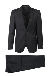 "Canaletto ""Porto"" REDA Wool Charcoal Solid Slim Fit Suit"