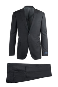 "Canaletto ""Porto"" Ermenegildo Zegna Slate Grey Solid Slim Fit Suit"